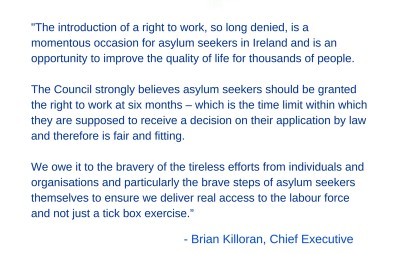 Asylum seekers right to work in Ireland
